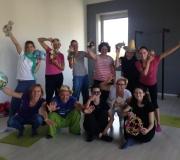 Prva delavnica Mini Monkini yoga učilnica